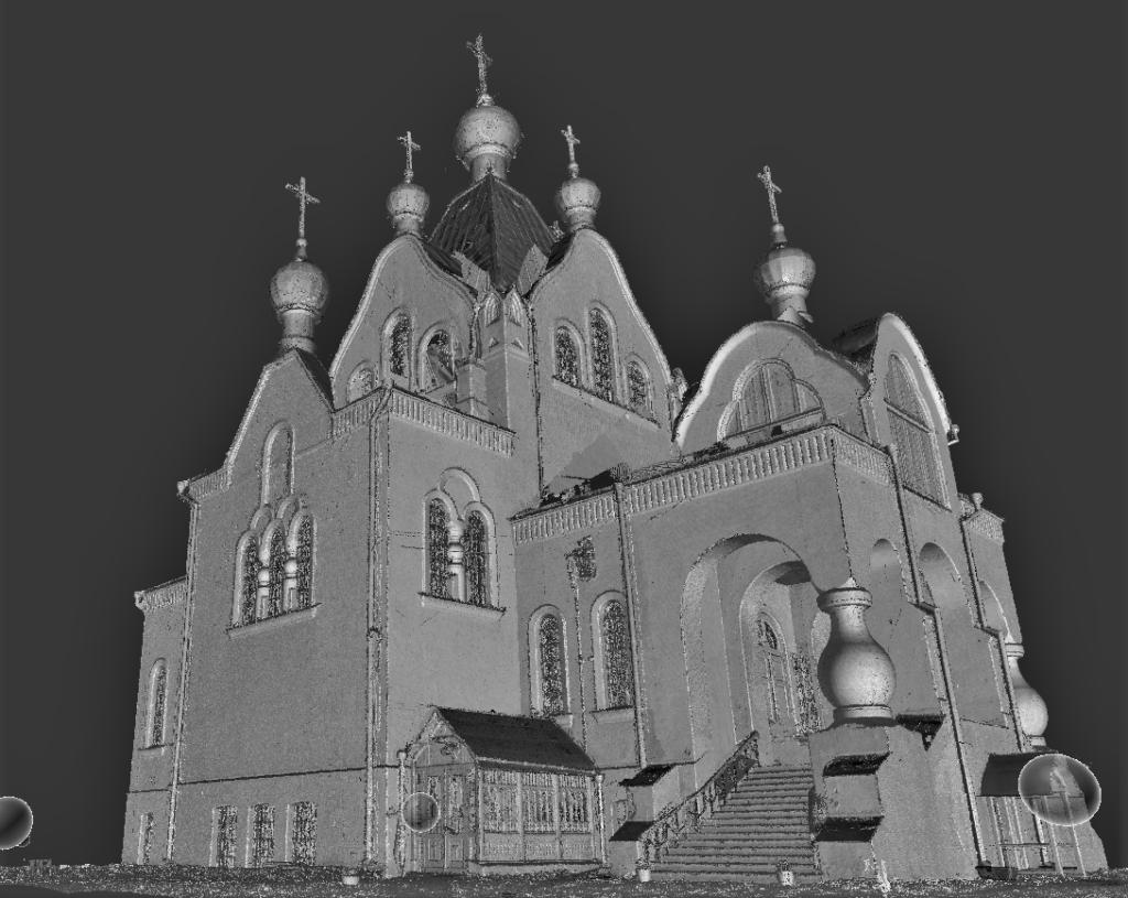 Tartu Aleksandri kiriku laserskaneerimise punktipilve mudel