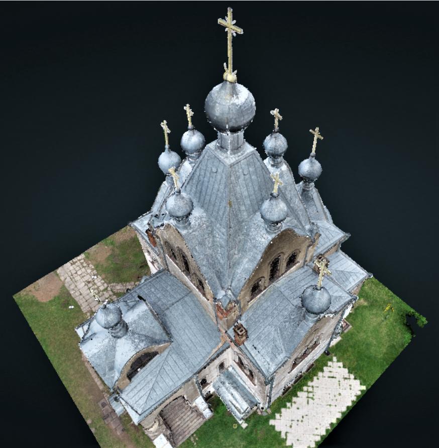 Tartu Aleksandri kiriku droonipiltide punktipilve mudel 2