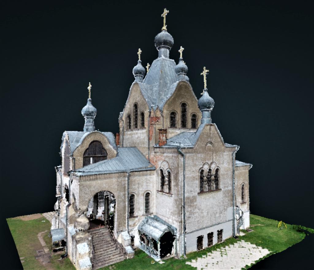 Tartu Aleksandri kiriku droonipiltide punktipilve mudel