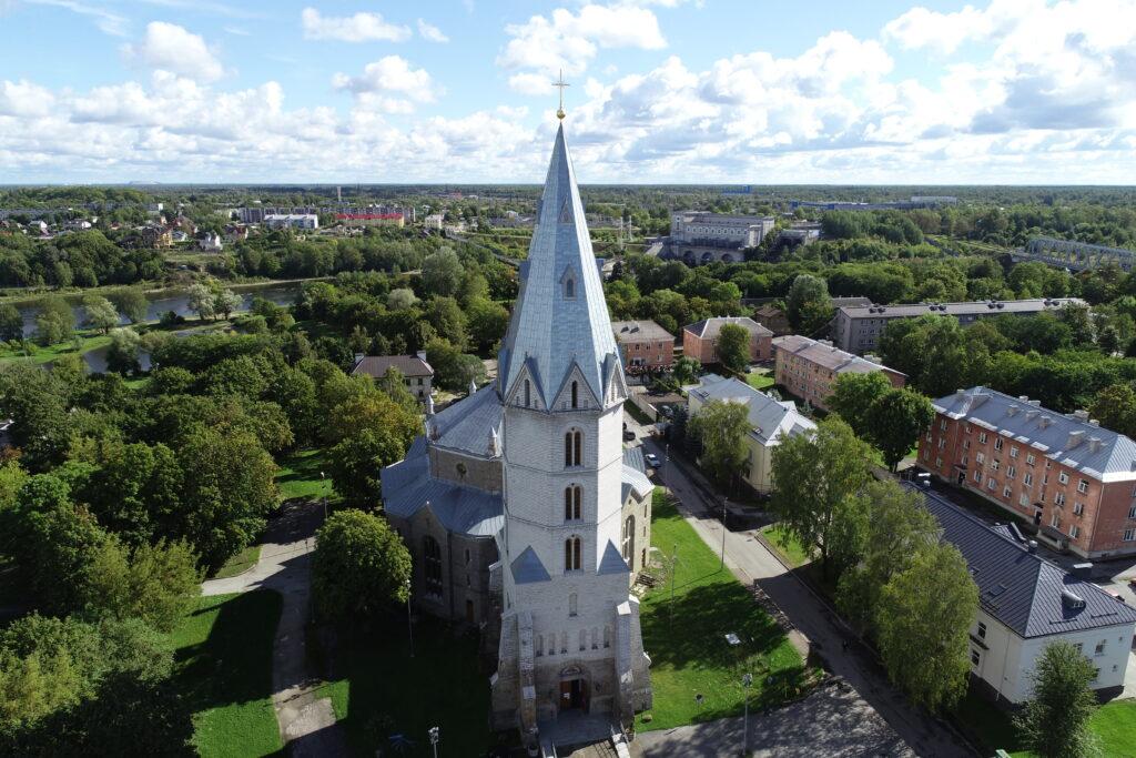 Narva Aleksandri kiriku droonifoto