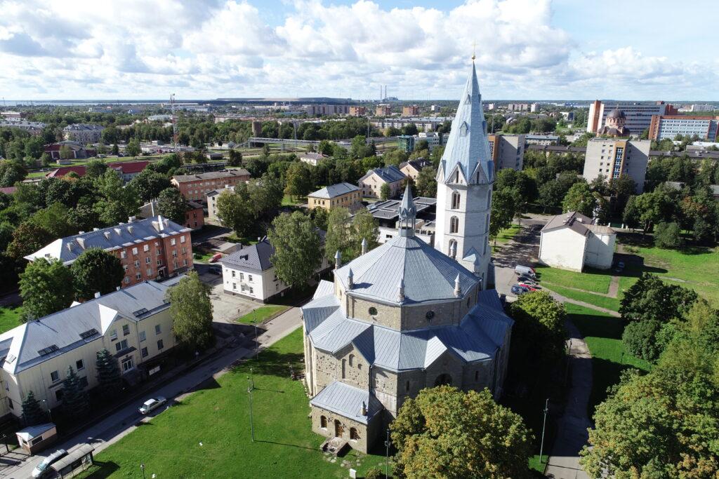 Narva Aleksandri kiriku droonifoto 3