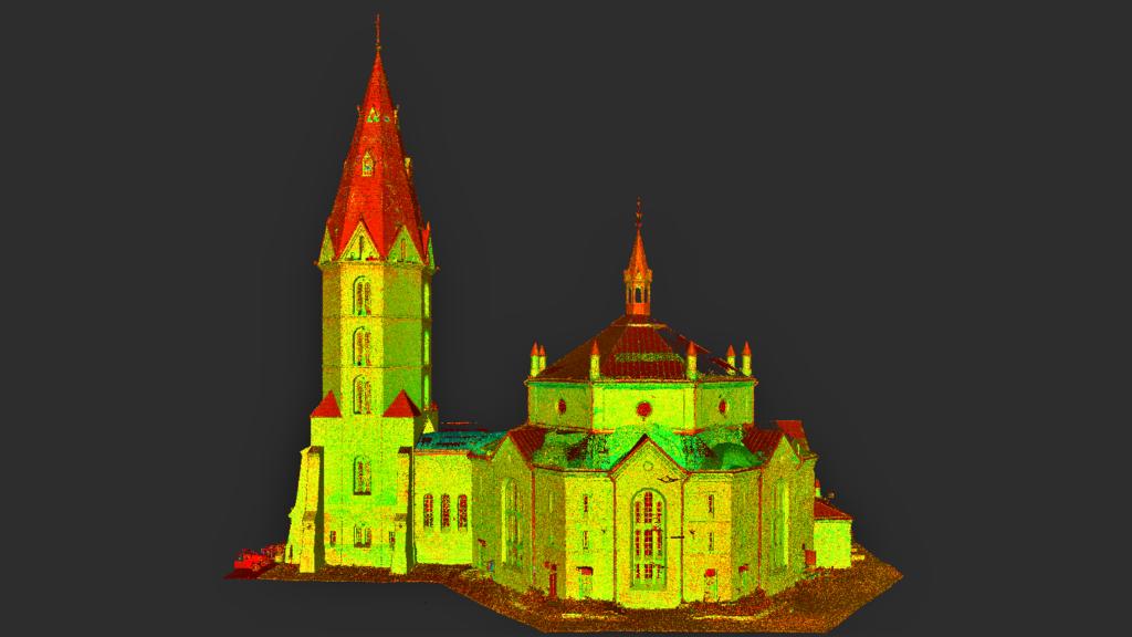Narva Aleksandri kiriku punktipilv 1
