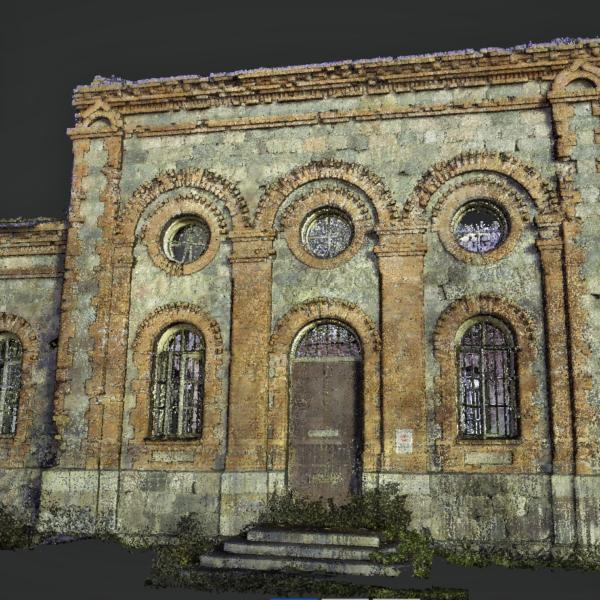 Lihula Püha Neeva Aleksandri kiriku laserskaneerimine